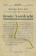 Beigem - BEYGHEM 1931: Groote Voordracht Ter Ere Oorlog - Guerre - Vrede : Zie Detail   (formaat 21x14 Cm) - Announcements