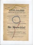 HUMBEEK : Davidfonds : W. De Mayer  1937   Zie Detail   (formaat 21x16 Cm) - Announcements