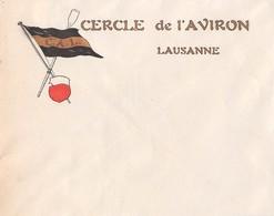 Enveloppe Du Cercle De L'Aviron Lausanne - Bateau ( Dorée) ( Dimension 15 X 12 Cm ) - Advertising