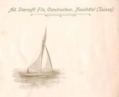 Enveloppe Ad. Staempfli Fils, Constructeur, Neuchâtel - Bateau (Début XXème Siècle) ( Dimension 15 X 12 Cm ) Suisse - Advertising