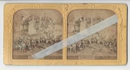 CHAMPIGNY SUR MARNE GUERRE 1870 THEATRE ET DIVERS Circa 1870 PHOTO STEREO A LA LUMIERE /FREE SHIP. R - Photos Stéréoscopiques