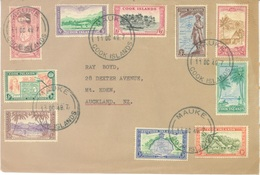 COOK ISLANDS - 11.10.1949 - COMPLETE SET FROM MAUKE TO AUCKLAND  - Yv 76-85 - Lot 17610 - Cook
