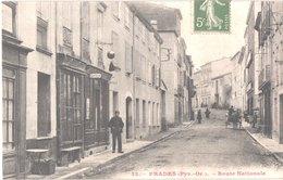 FR66 PRADES - Nd 13 - Route Nationale - Salon De Coiffure - Animée - Belle - Prades