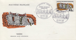 Enveloppe  FDC   1er Jour  POLYNESIE   TAHARAA    1969 - FDC
