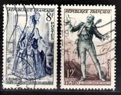 FRANCE 1953 - Y.T. N° 956 / 957 - 2 TP OBLITERES - Francia