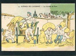 CPA - Illustration Jarry - SCENES DE LA CASERNE - La Corvée De Pain - Humoristiques