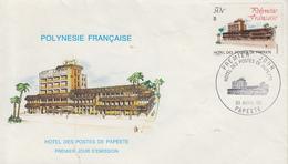 Enveloppe  FDC  1er  Jour   POLYNESIE   Hotel  Des  Postes  De  PAPEETE   1980 - FDC