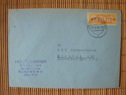 DDR , ZKD Dienstmarke B, Billettform  Mi-Nr. 17 F Geprüft Weigelt, HO-Eisleben - Service