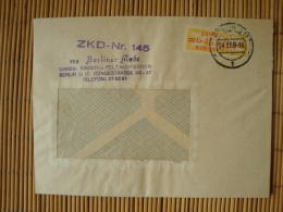 "DDR , ZKD Dienstmarke B, Billettform  Mi-Nr. 17 L, Stempel ""ZKD-Nr. 145, VEB Berliner Mode, Berlin - Service"