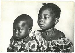 CPSM TCHAD - Deux Orphelines De La Mission - Missionnaires De N. D. Des Apôtres - Tchad