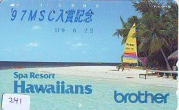 Télécarte HAWAII Sur JAPON - HAWAII Related (241)   Telefonkarte Phonecard Japan - - Paysages