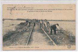 MONTPELLIER : Une équipe De Cent Ouvriers Occupée à La Réparation De La Voie Ferrée De Palavas à Montpellier - état - Montpellier