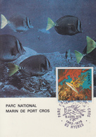 Carte  Maximum  1er   Jour    FRANCE    Parc  National   Marin  De   PORT  CROS   HYERES   1978 - Cartes-Maximum