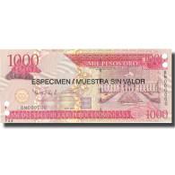 Billet, Dominican Republic, 1000 Pesos Oro, 2006, 2006, Specimen, KM:180s1, NEUF - Dominicaine