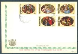 COOK ISLANDS - FDC - 21.11.1969 - SPECIAL COMMEMORATIVE COVER PEACE - Yv 217-221 - Lot 17613 - Cook