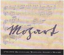 Contre Etiquette Pour Le Champagne Henriot / Magnum / Mozart 1791-1991 - Komponisten