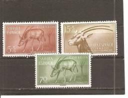 Sahara - Edifil 123-25 - Yvert 110-12 (MNH/**) - Sahara Español