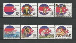 N. Zealand 1989 Commonwealth Games Y.T. 1051/1058** - New Zealand