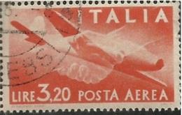 "(m.a) - ITALIA -P.Aerea   Uni. N° A.128      -1946-   ""ANNULLATI/USED""          [FOTO A CAMPIONE] - 1946-.. République"
