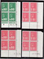 M11 - Marianne De Béquet 4 Blocs De 4 Datés - 1816** (16.11.76) - 1891** (6.2.75) - 1892** X 2 (9.10.76 Et 22.10.76) - Coins Datés