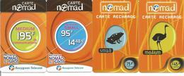 4 Carte Recharges BOUYGUES TELECOM ( Carte Nomad ) Différentes - Autruche Crapaud - Frankreich