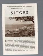 Sitges   (Espagne) Petit Livret Avec Photos Et Plan De La  Ville (c 1936) (PPP14027) - Dépliants Touristiques