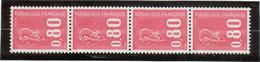 M11 - Marianne De Béquet 4 Timbres De Roulette 1816c** Avec Un N° Rouge De 1974. - 2 Scans - - Roulettes