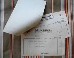 Lot De 3 55 BAR LE DUC LE MEUSIEN + Mandat - Imprimerie & Papeterie