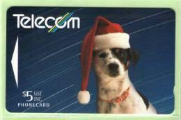 New Zealand - 1993 Telecom Staff Xmas Card - $5 Spot The Dog - Mint - NZ-P-16 - New Zealand