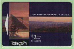 New Zealand - 1992 Telecom First AGM $2 - Mint - NZ-P-2 - New Zealand