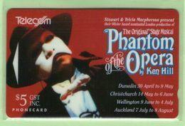 New Zealand - 1993 Phantom Of The Opera - $5 - NZ-A-8 - VFU - New Zealand