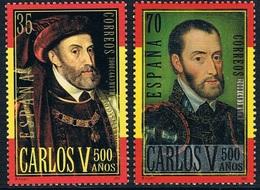Espagne - 500e Anniversaire De La Naissance De Charles Quint 3264/3265 ** - 1931-Aujourd'hui: II. République - ....Juan Carlos I