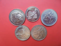 LOT 5 MONNAIES DIVERS ETHIOPIE-JAMAIQUE-ILE De MAN-HONGRIE-TURQUIE - Coins & Banknotes