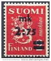Finland 1940 Opdruk 2.75-2.00mk Leeuwenzegel Type II PF-MNH-NEUF - Finland