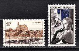 FRANCE 1955 -  Y.T. N° 1019 ET 1020 - OBLITERES - Francia