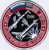Human Space Flights Soyuz TM-23 Skiph Russia #3 Iron On Embroidered Patch - Patches