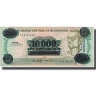 Billet, Nicaragua, 10,000 Córdobas On 10 Córdobas, KM:158, TTB - Nicaragua