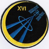 ISS Expedition 16 #NoWords International Space Station Iron On Embroidered Patch - Patches