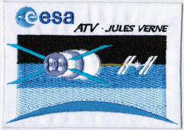 ISS Expedition 16 ATV International Space Station Iron On Embroidered Patch - Patches
