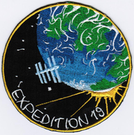 ISS Expedition 19 #NoWords International Space Station Iron On Embroidered Patch - Patches