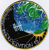ISS Expedition 19 #Words International Space Station Iron On Embroidered Patch - Patches
