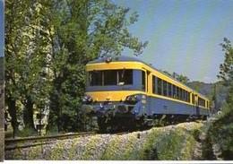CP Train - 06 Alpes Maritimes - Autorail SITP Cannes-Ranguin, Peu Avant Son Arrivée A Ranguin (CP N° 3) - Cannes