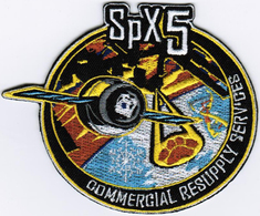 ISS Expedition 42 SPX-5 Nasa International Space Station Iron On Embroidered Patch - Patches