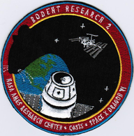 ISS Expedition 43 Dragon SPX-6 Rodent International Space Station Iron On Patch - Patches