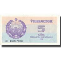 Billet, Uzbekistan, 5 Sum, 1992, 1992, KM:63a, TTB+ - Uzbekistan