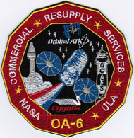 ISS Expedition 47 Cygnus OA-6 ATK International Space Station Iron On Embroidered Patch - Patches