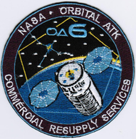 ISS Expedition 47 Cygnus OA-6 Nasa International Space Station Iron On Embroidered Patch - Patches