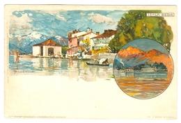 1900's, Italy, Isola Bella, Manuel Wielandt Art Litho Pc, Unused. - Wielandt, Manuel