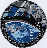 ISS Expedition 47 Dragon SPX-8 Nasa International Space Station Iron On Embroidered Patch - Patches