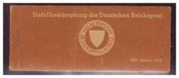 DT-Reich (006725) Propaganda, Vignettenheftchen, Unfallbekämpfung Der Deutschen Reichspost, 4 Seiten A 3 Vignetten - Briefe U. Dokumente